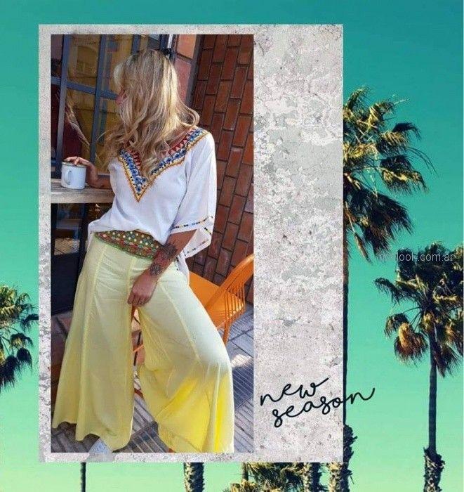 pantalon ancho degrade playa verano 2019 Maria India