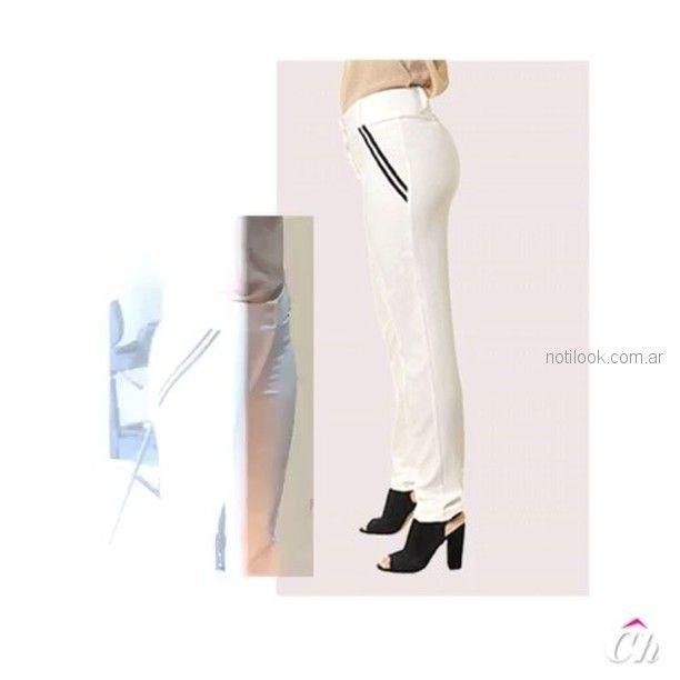 pantalon recto blanco para señoras chatelet verano 2019