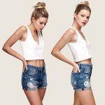 short jeans con gastados y roturas Adicata jeans verano 2019