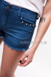 short jeans con perlas Kevingston mujer verano 2019