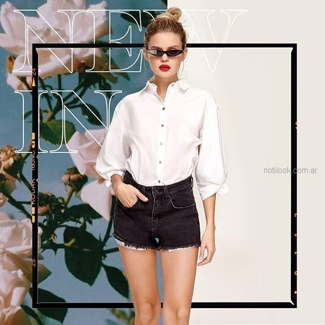 short jeans negro Adicata jeans verano 2019