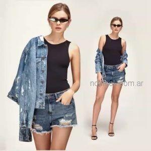 short y chaqueta jeans gastados Adicata jeans verano 2019