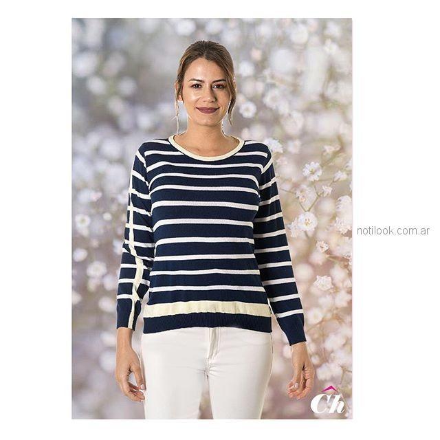 sweater señora a rayas chatelet verano 2019