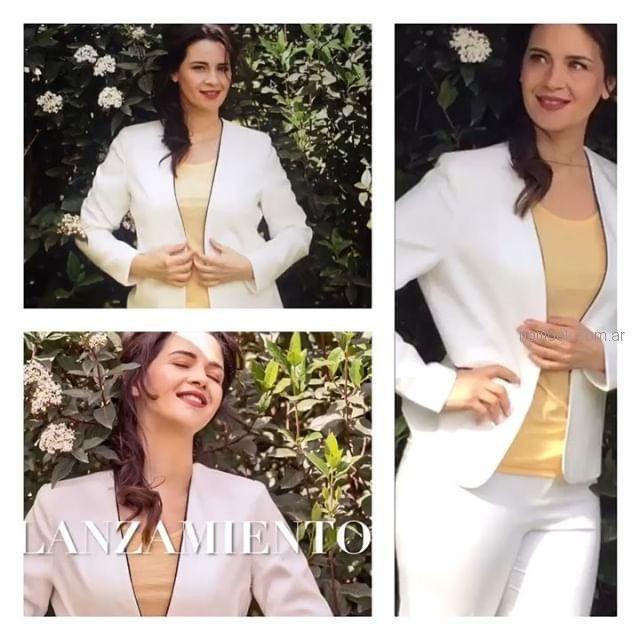 traje blanco para mujer chatelet verano 2019