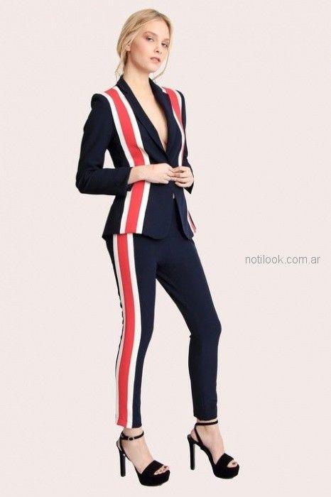 traje mujer juvenil entallado Paris by Flor Monis verano 2019