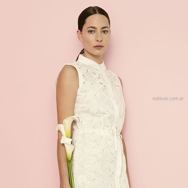 vestido broderie blanco formal cacharel argentina verano 2019