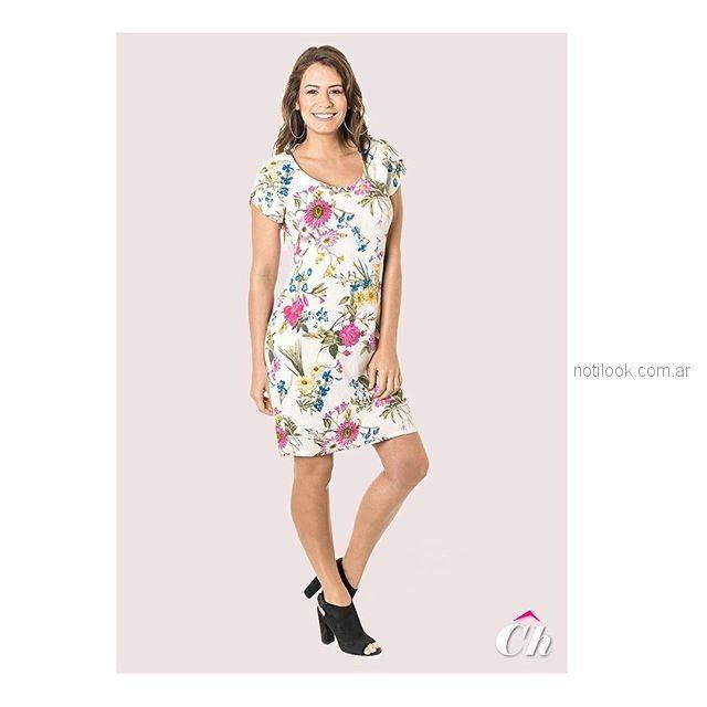 vestido para el dia floreado para señoras chatelet verano 2019