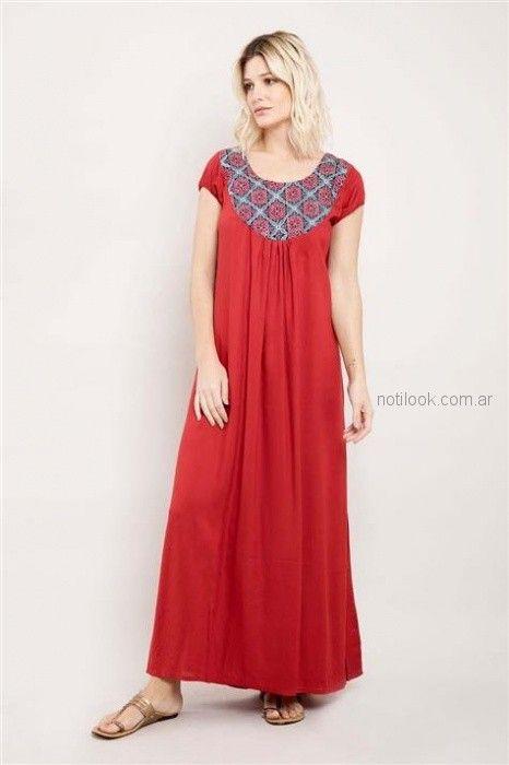 vestido rojo casual bohemio Santa Bohemia verano 2019