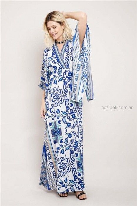 vestido tunica cruzada casual estilo bohemio Santa Bohemia verano 2019