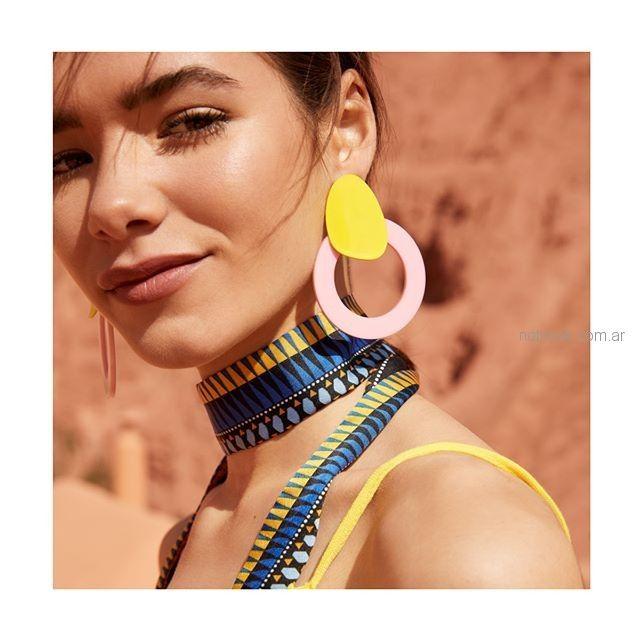 aros con argollas Isadora accesorios verano 2019