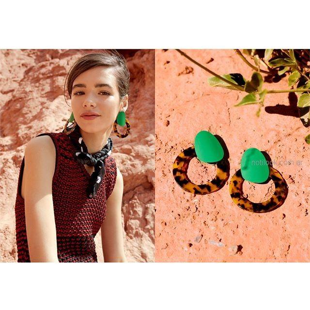 aros originales verdes Isadora accesorios verano 2019