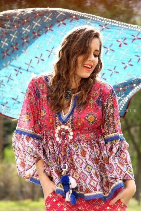 camisolas estilo bohemio Moda verano 2019