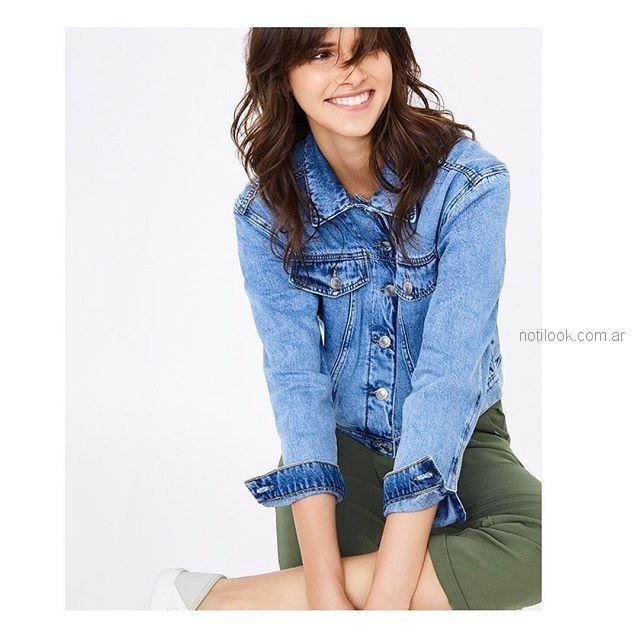 camperas de jeans mujer Basement verano 2019