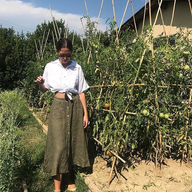 falda abotonada de lino verano 2019 - ropa mujer Piccola