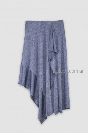 falda asimetrica jersey Benito Fernandez verano 2019