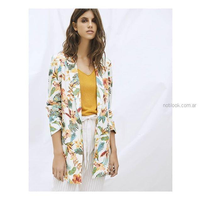kimono estampado Basement verano 2019