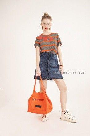 minifalda con botones Benito Fernandez verano 2019