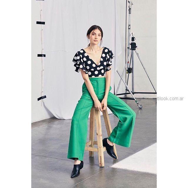 oxford verde y blusa st marie verano 2019