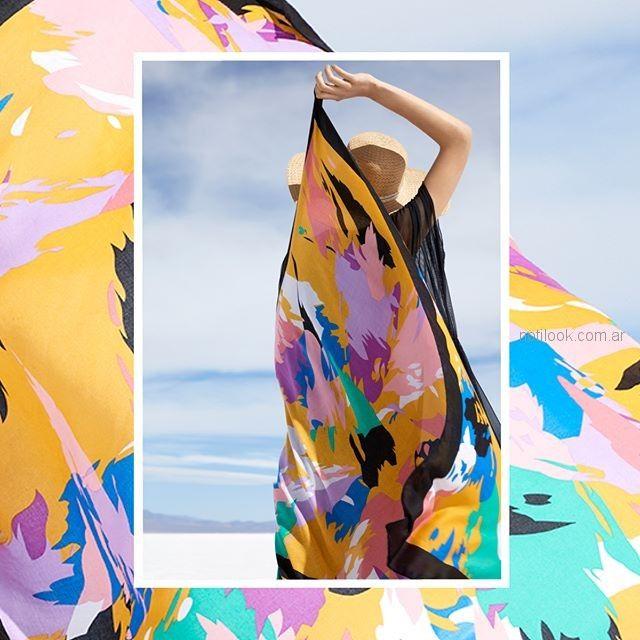 pañuelos coloridos para el verano Isadora accesorios verano 2019