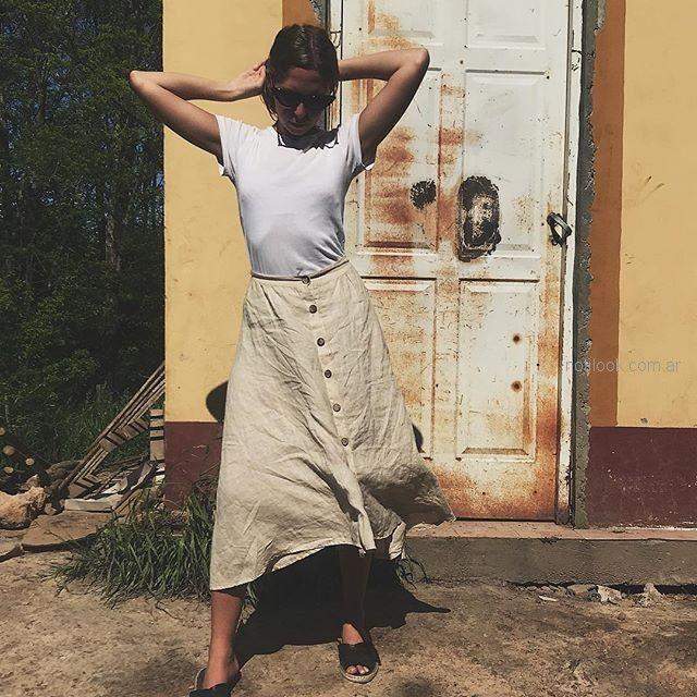 pollera de lino verano 2019 - ropa mujer Piccola