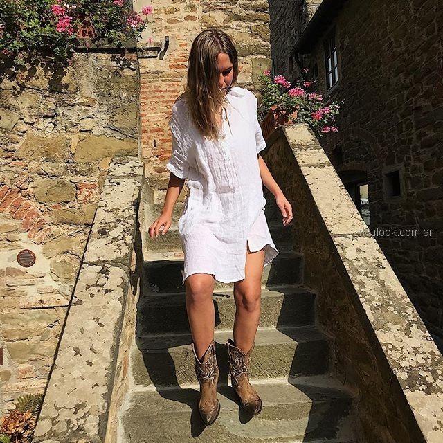 tunica corta de lino verano 2019 - ropa mujer Piccola
