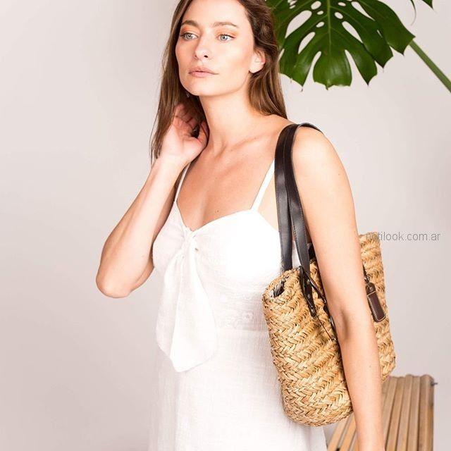 vestido blanco casual Sicala verano 2019