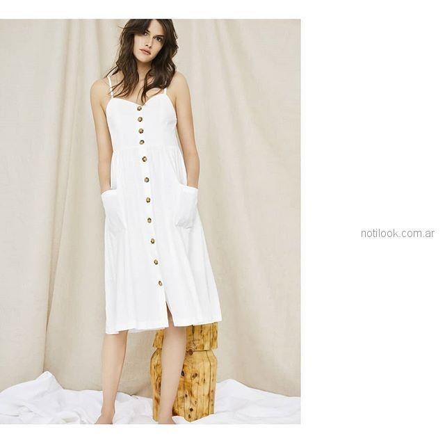 Vestidos de verano blancos 2019