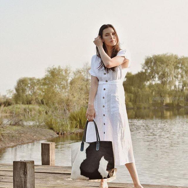 vestido camisero de lino verano 2019 - ropa mujer Piccola