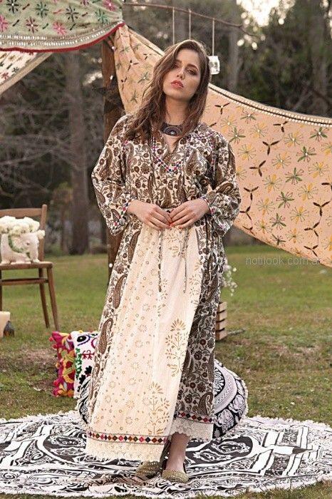 vestido largo estilo tunica estampada Moda verano 2019
