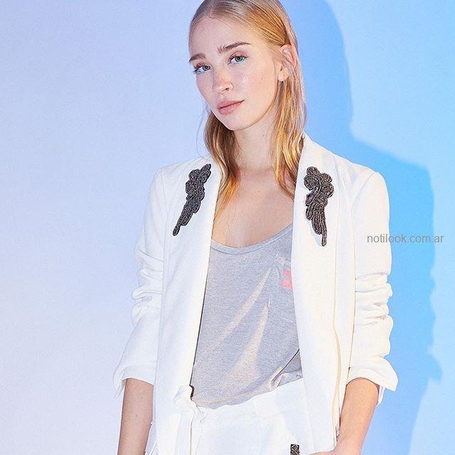 genuino mejor calificado nueva colección venta barata ee. blazer blanco mujer juvenil Rie verano 2019 – Notilook ...