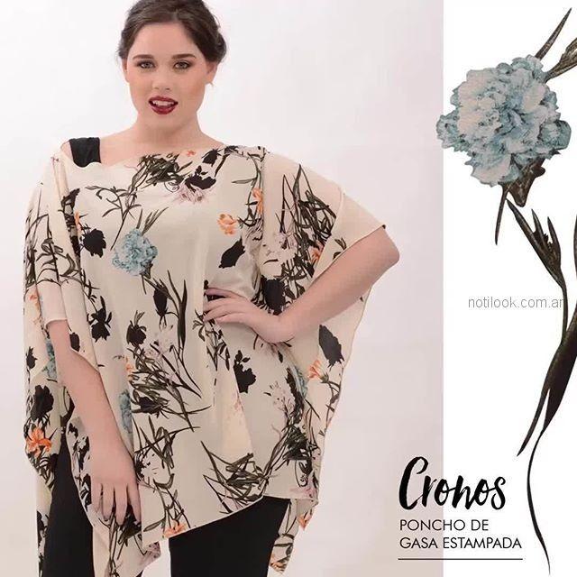 blusa estilo poncho mujer talles grandes portofem verano 2019