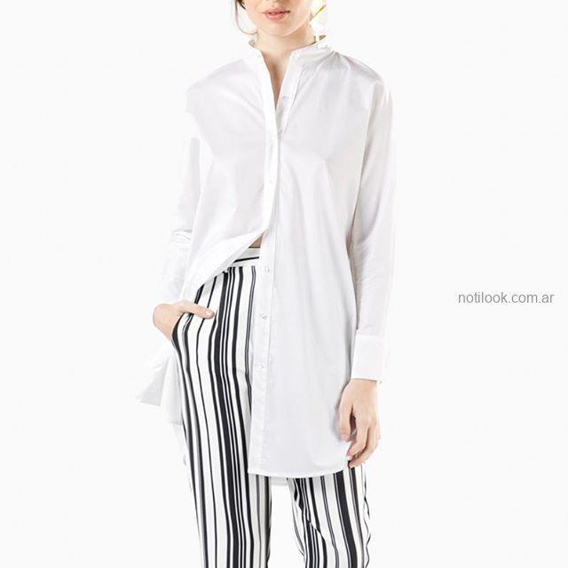 camisa larga y pantalon a rayas mujer Naima verano 2019
