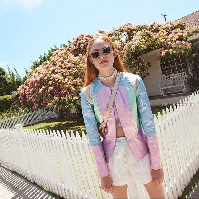 chaqueta metalizada mujer juvenil Las pepas verano 2019