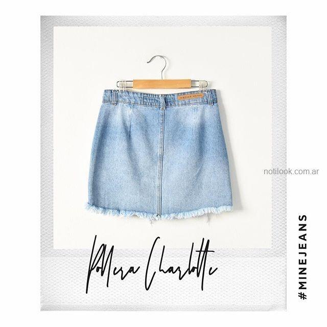 minifalda jeans clara MIne jeans verano 2019