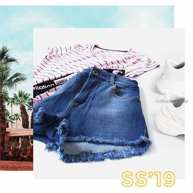 short jeans azul medio MIne jeans verano 2019
