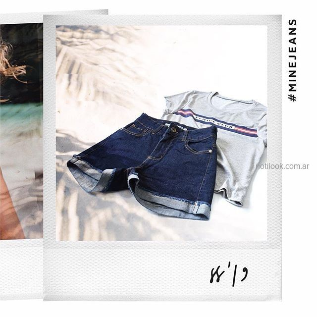 short jeans azul oscuro MIne jeans verano 2019