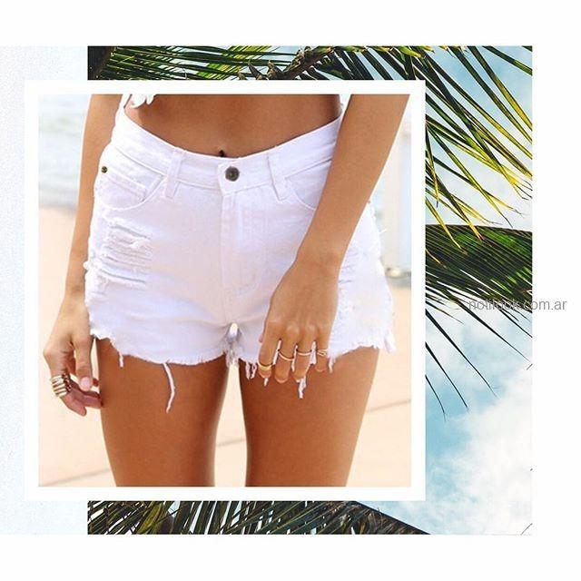 short jeans blanco MIne jeans verano 2019