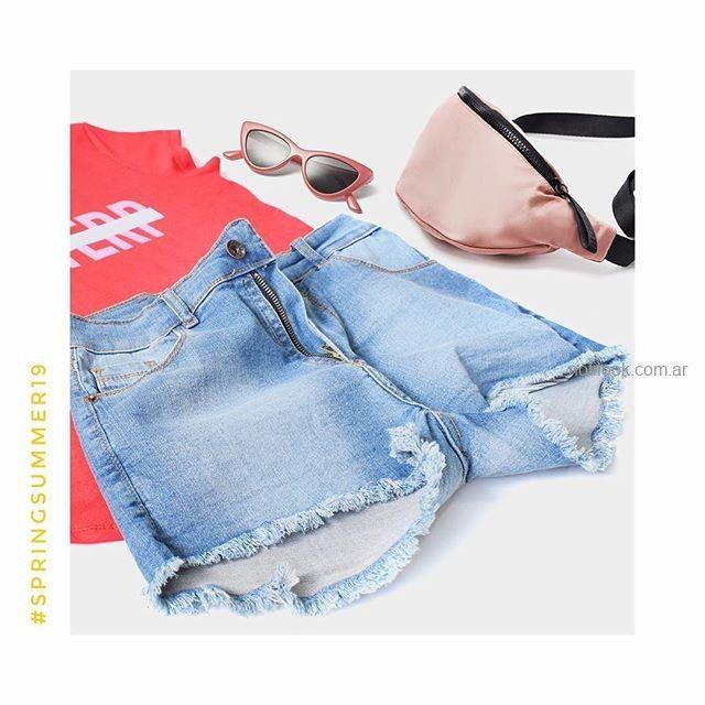 short jeans con rruedo desflecados MIne jeans verano 2019