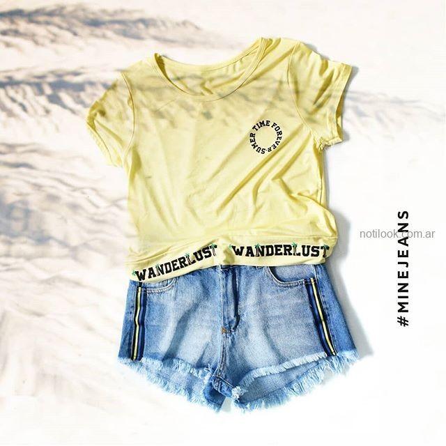short jeans juvenil MIne jeans verano 2019