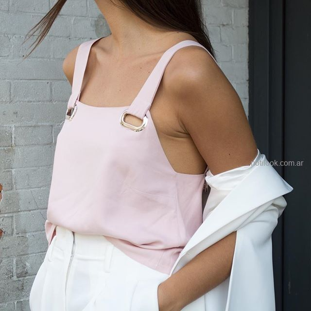 top rosa lino Naima verano 2019