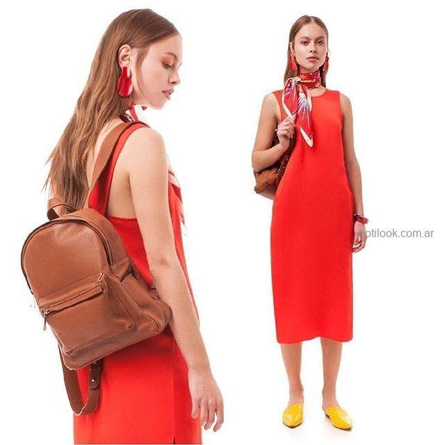 vestido rojo informal juvenil Las pepas verano 2019