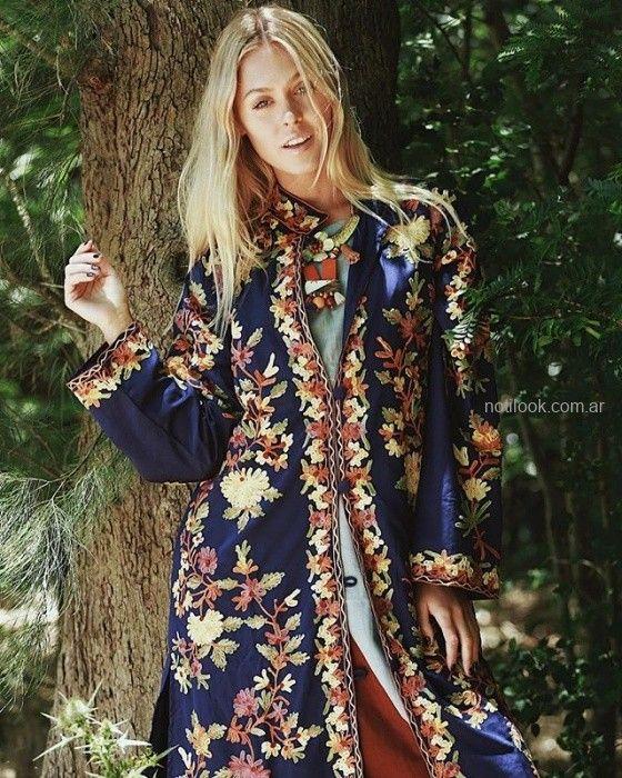 aacfed340e19 Tapado bordado boho chic invierno 2019 – Vars. Mas fotos en Moda Mujer ...