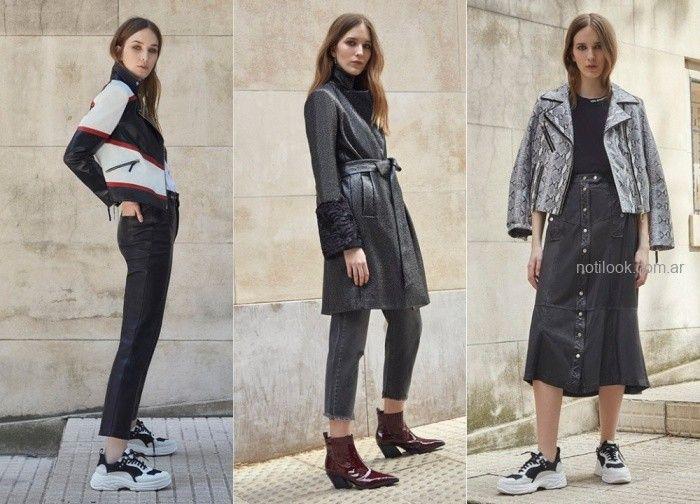 09b003fb8 Ropa de cuero para mujer otoño invierno 2019 – UMA | Moda Mujer ...
