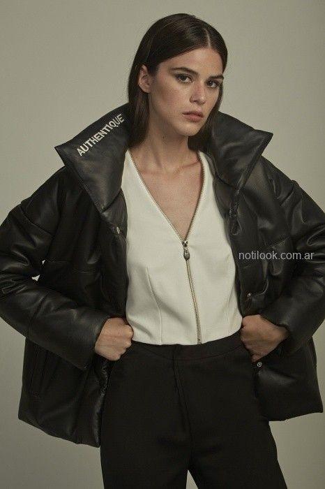 51d5ee464 camperon puffer de cuero invierno 2019 – UMA – Moda Mujer Argentina