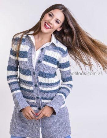 cardigan de lana a rayas Mauro sergio tejidos otoño invierno 2019