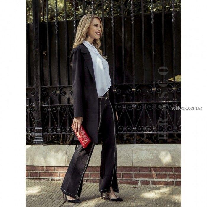 pantalon de vestir oxford negro Brasco otoño invierno 2019