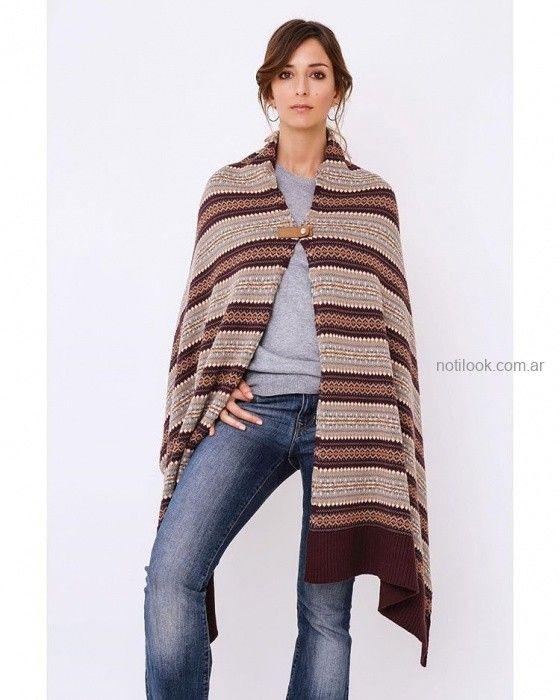 poncho tejido invierno 2019 - Del Cerro Sweater