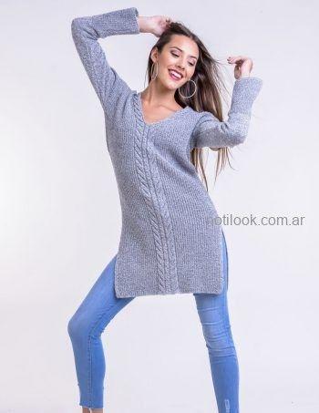 sweater con tajos laterales Mauro sergio tejidos otoño invierno 2019