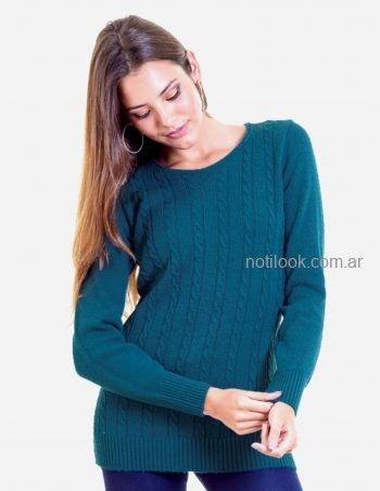 sweater cuello redondo Mauro sergio tejidos otoño invierno 2019