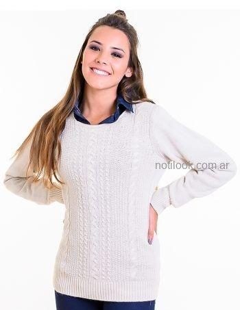 sweater mujer color crudo Mauro sergio tejidos otoño invierno 2019